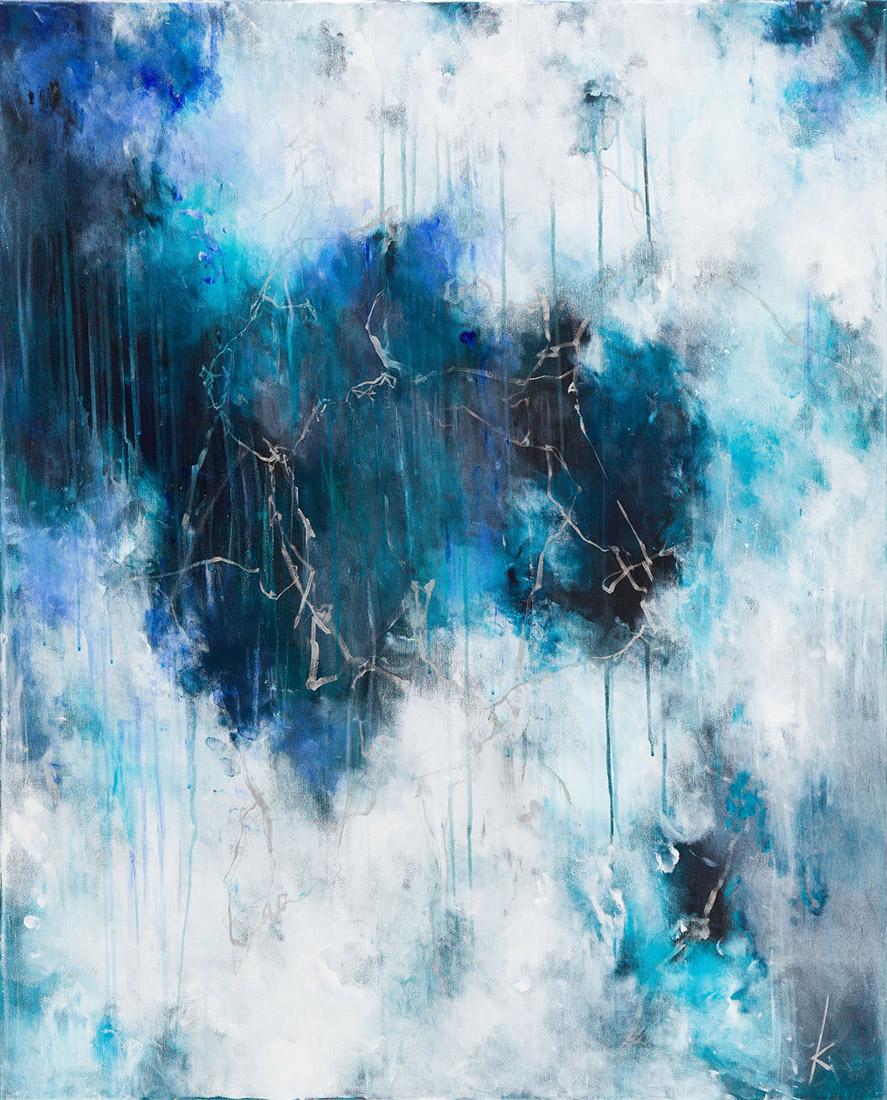 Lia Kimura. Acrylic on stretched canvas, 100x81cm, 201