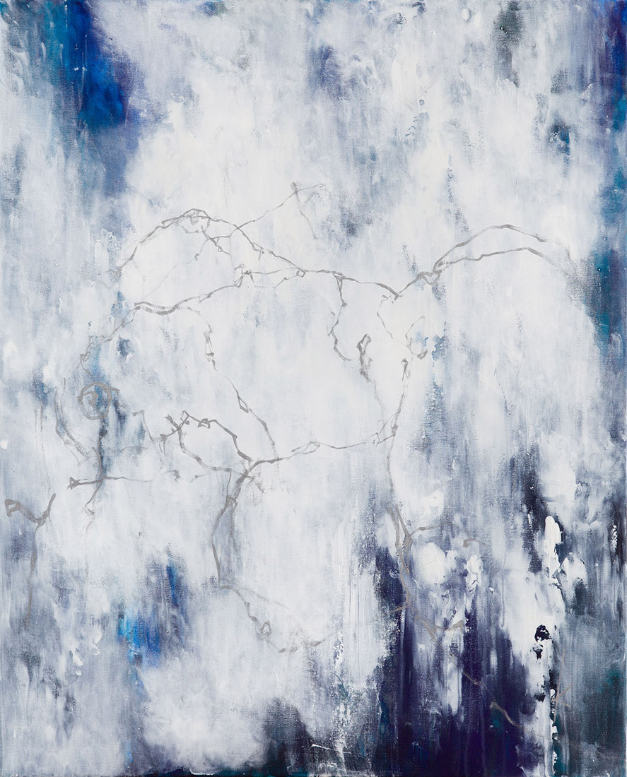 Lia Kimura. Acrylic on stretched canvas, 100x81cm, 2018