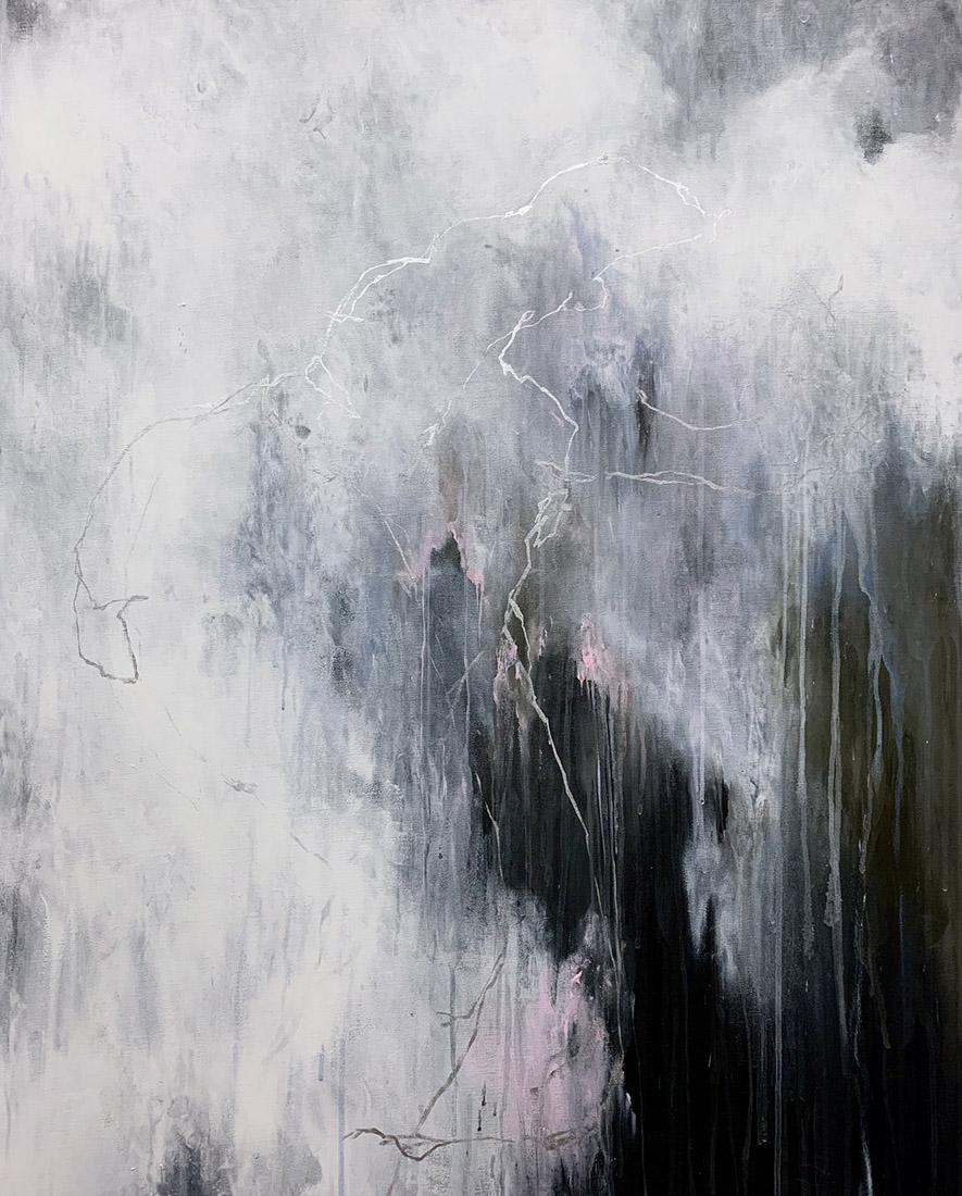 Lia Kimura. Acrylic on stretched canvas, 100x81cm, 2019