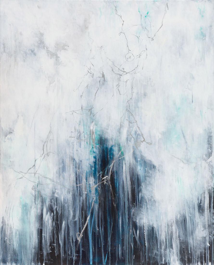 Lia Kimura. Acrylic on stretched canvas, 100x81cm, 2017